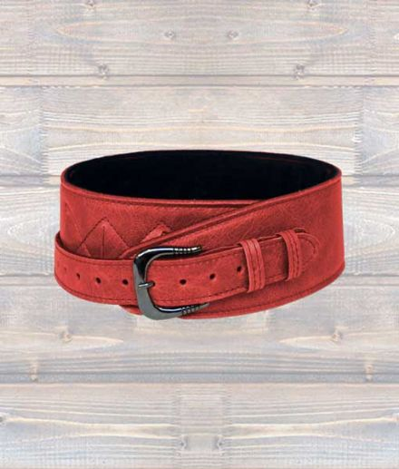 Leathergraft F.A.B. Softy 2.5 Inch Leather Guitar Strap – Red